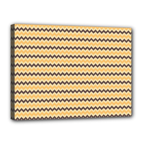 Colored Zig Zag Canvas 16  X 12  by Colorfulart23