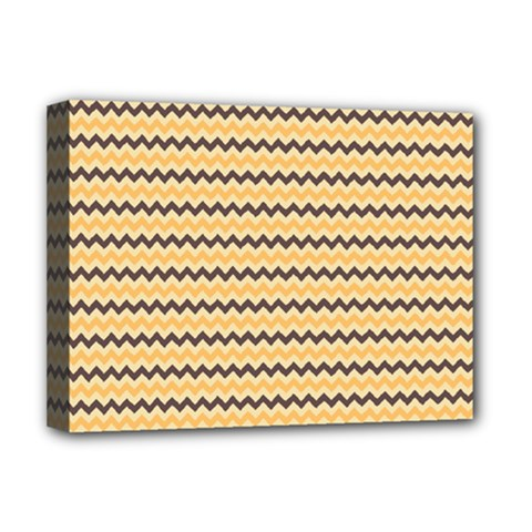 Colored Zig Zag Deluxe Canvas 16  X 12   by Colorfulart23