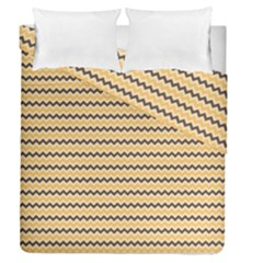 Colored Zig Zag Duvet Cover Double Side (queen Size) by Colorfulart23