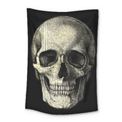 Newspaper Skull Small Tapestry