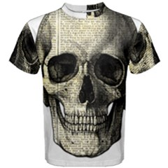 Newspaper Skull Men s Cotton Tee