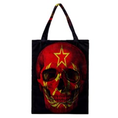 Russian Flag Skull Classic Tote Bag by Valentinaart