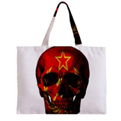 Russian Flag Skull Zipper Mini Tote Bag by Valentinaart