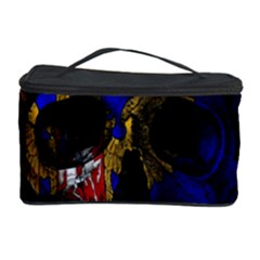 Russian Flag Skull Cosmetic Storage Case by Valentinaart