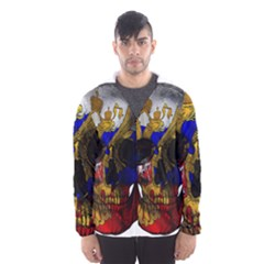 Russian Flag Skull Hooded Wind Breaker (men)