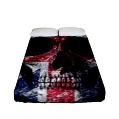 Uk Flag Skull Fitted Sheet (full/ Double Size)