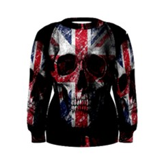 Uk Flag Skull Women s Sweatshirt