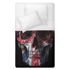 Uk Flag Skull Duvet Cover (single Size) by Valentinaart