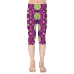 Lillie Of The Valley And Metal Kids  Capri Leggings  by pepitasart