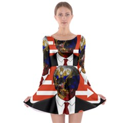 Dualism Long Sleeve Skater Dress