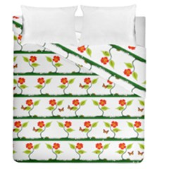Plants And Flowers Duvet Cover Double Side (queen Size) by linceazul
