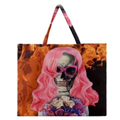 Bride From Hell Zipper Large Tote Bag by Valentinaart