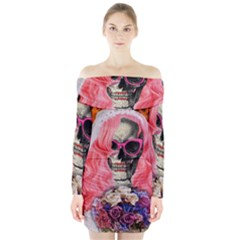 Bride From Hell Long Sleeve Off Shoulder Dress