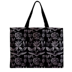 1904 Haeckel Chiroptera Black Medium Zipper Tote Bag by EndlessVintage