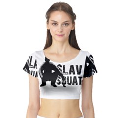 Slav Squat Short Sleeve Crop Top (tight Fit)