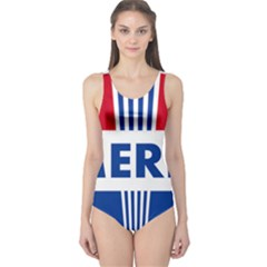 America  One Piece Swimsuit by Colorfulart23