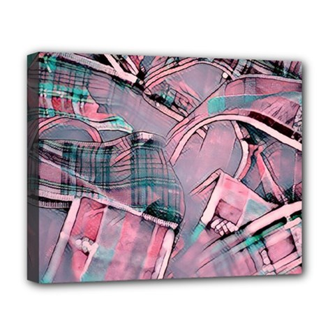 Another Modern Moment Pink Deluxe Canvas 20  X 16   by MoreColorsinLife
