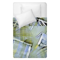 Another Modern Moment Yellow Duvet Cover Double Side (single Size)