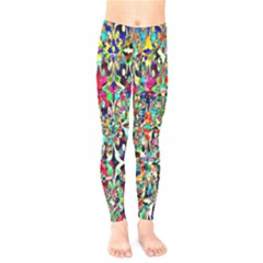 Psychedelic Background Kids  Legging by Colorfulart23