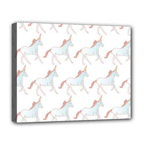 Unicorn Pattern Deluxe Canvas 20  X 16