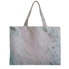 Greenish Marble Texture Pattern Zipper Mini Tote Bag by paulaoliveiradesign