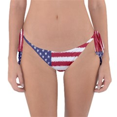 Flag Of The United States America Reversible Bikini Bottom by paulaoliveiradesign