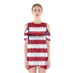 Flag Of The United States America Shoulder Cutout One Piece by paulaoliveiradesign