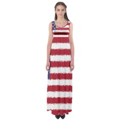 Flag Of The United States America Empire Waist Maxi Dress by paulaoliveiradesign