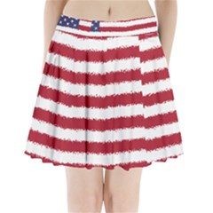 Flag Of The United States America Pleated Mini Skirt by paulaoliveiradesign