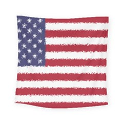 Flag Of The United States America Square Tapestry (small) by paulaoliveiradesign