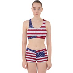 Flag Of The United States America Work It Out Sports Bra Set by paulaoliveiradesign