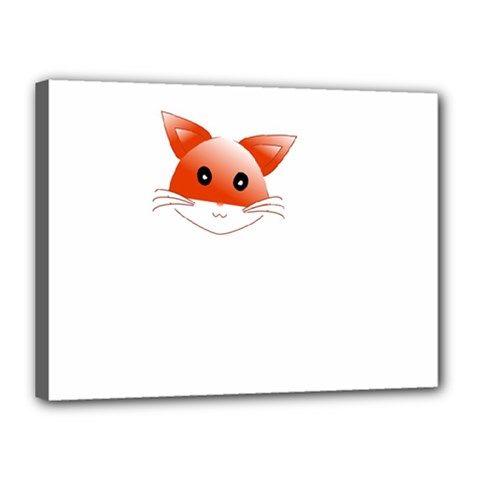 Animal Image Fox Canvas 16  X 12  by BangZart
