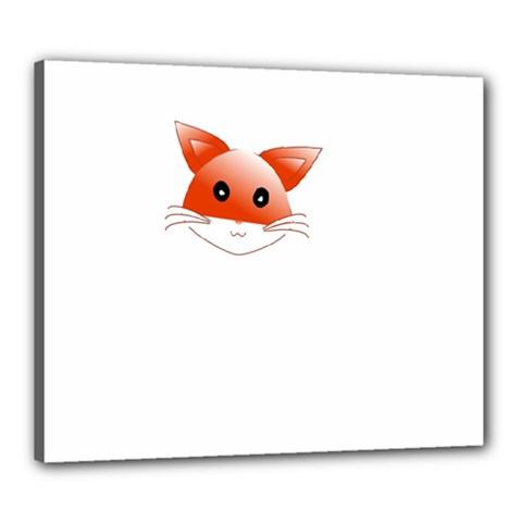 Animal Image Fox Canvas 24  X 20  by BangZart