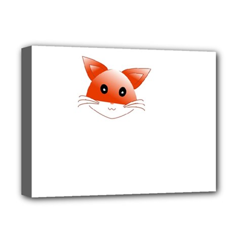 Animal Image Fox Deluxe Canvas 16  X 12   by BangZart