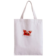 Animal Image Fox Zipper Classic Tote Bag by BangZart