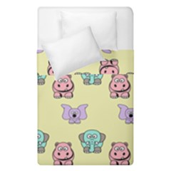 Animals Pastel Children Colorful Duvet Cover Double Side (single Size) by BangZart