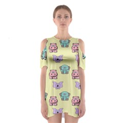 Animals Pastel Children Colorful Shoulder Cutout One Piece
