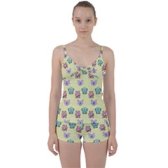 Animals Pastel Children Colorful Tie Front Two Piece Tankini