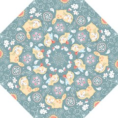 Cute Cat Background Pattern Folding Umbrellas by BangZart