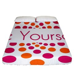 Be Yourself Pink Orange Dots Circular Fitted Sheet (queen Size) by BangZart