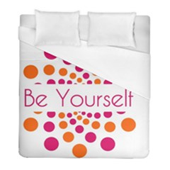 Be Yourself Pink Orange Dots Circular Duvet Cover (full/ Double Size) by BangZart