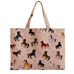 Horses For Courses Pattern Mini Tote Bag by BangZart
