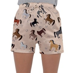 Horses For Courses Pattern Sleepwear Shorts
