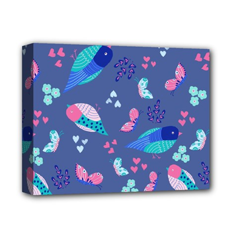 Birds And Butterflies Deluxe Canvas 14  X 11  by BangZart