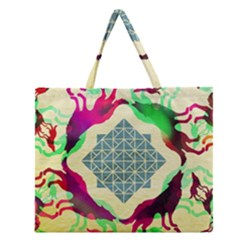 Several Wolves Album Zipper Large Tote Bag by BangZart