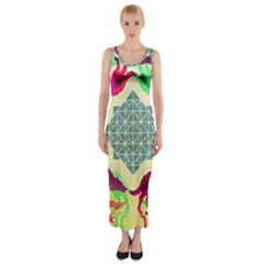 Several Wolves Album Fitted Maxi Dress