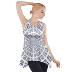 Illustration Binary Null One Figure Abstract Side Drop Tank Tunic