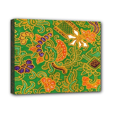 Art Batik The Traditional Fabric Canvas 10  X 8  by BangZart