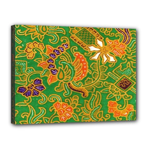Art Batik The Traditional Fabric Canvas 16  X 12  by BangZart