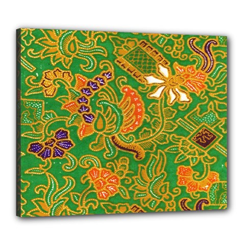 Art Batik The Traditional Fabric Canvas 24  X 20  by BangZart